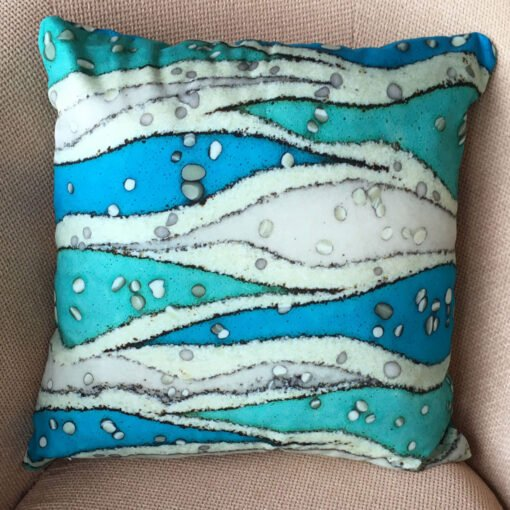 Catherine Lowe - printed cotton fabric Hebridean Cushion