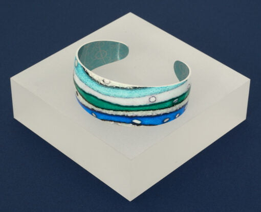 Hebridean Collection cuff blue green